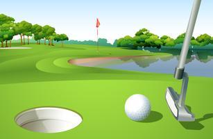 Um campo de golfe vetor