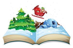 Livro de inverno vetor
