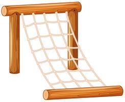 Grande corda de escada de escalada vetor