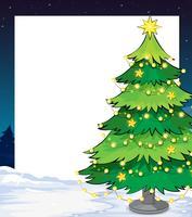 Um modelo de natal vazio com uma árvore de natal vetor