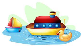 Brinquedos na lagoa vetor