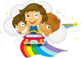 Crianças dirigindo vetor