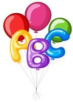 Balões coloridos com alfabeto abc vetor