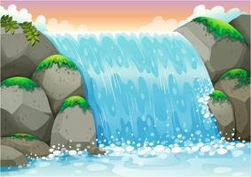 cascata vetor