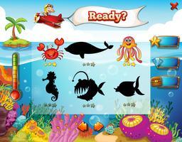 Jogo subaquático vetor