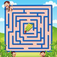 Jogo de labirinto vetor