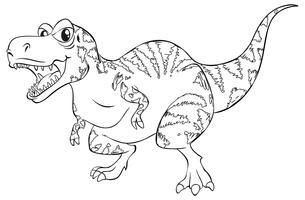 Doodle animal para dinossauro T-Rex vetor