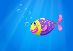 Um peixe colorido sob o mar