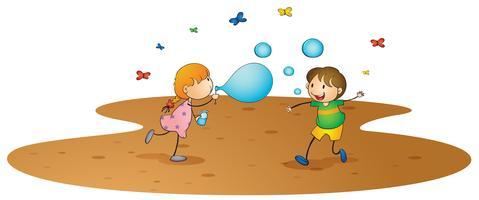 crianças brincando vetor