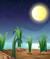 Lua cheia brilhante vetor