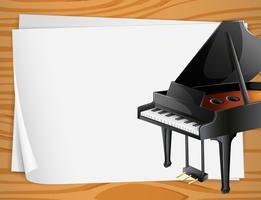 Banner de piano vetor