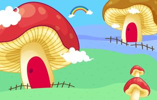 Casas de cogumelo vetor
