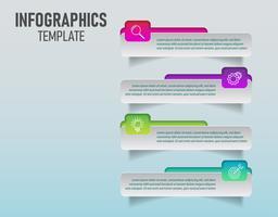 O vetor do modelo de infográficos coloridos para o seu planejamento de negócios