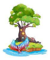 Uma pequena ilha vetor