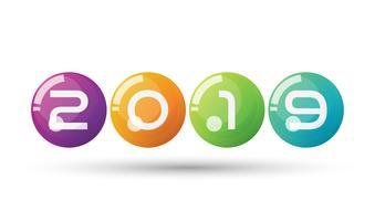 Vector feliz ano novo de 2019