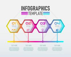 Etiqueta moderna de Infographic 3d do vetor, projeto do molde. Conceito de negócio, Infografia com opções de número 4.
