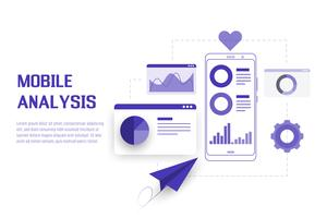Análise de dados móveis vetor