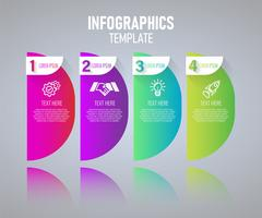 Modelo de design de infográficos colorido