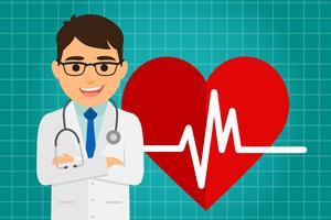 Médico de cuidados de saúde vetor