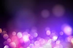 Resumo círculo azul turva luz, luzes de bokeh e brilho de fundo Vector