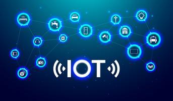 IOT Internet de coisa o futuro conceito de tecnologia. Vetor