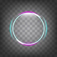 efeito de luz do círculo. vetor