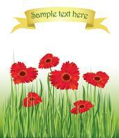 Fundo floral Cobertura de buquê de flores. Cartão de florescer vetor