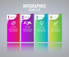 Projeto colorido do molde de Infographics, elementos abstratos do grah com etapas. ilustração do vetor