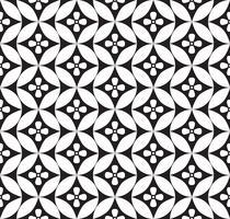 Ornamento floral abstrato. Padrão sem emenda de linha geométrica