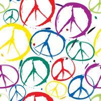 padrão de sinal de paz Fundo sem emenda do símbolo de paz. Paz. Peac vetor