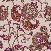 Floral fundo sem emenda. Ornamento Oriental. Padrão floral. vetor