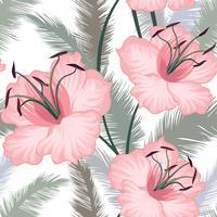 Padrão sem emenda floral. Fundo de flor. Jardim florescer vetor