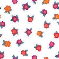 Padrão sem emenda floral. Fundo de flor. Enfeite de jardim