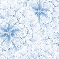 Fundo floral Padrão floral. Florescer textura sem emenda vetor