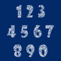 Números de floco de neve. Veja também o plano de fundo