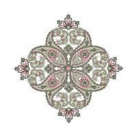 Amuleto étnico oriental da mandala do fundo árabe do ornamento. vetor