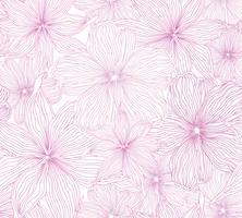 Estampa floral. Flor de fundo sem emenda. Florescer jardim ornamental vetor