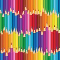 Fundo de creiom. Padrão sem emenda de lápis colorido. vetor