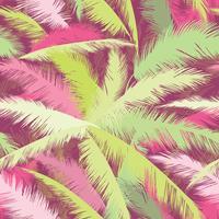 Estampa floral. Folhas de palmeira. Textura sem costura de verão