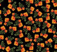 Redemoinho-padrão floral sem emenda. Fundo ornamental em estilo russo. vetor