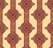 Ornamnet floral abstrato. Florescer ornamental sem costura padrão