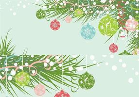 Pacote de vetores de papel de parede de ornamento de natal