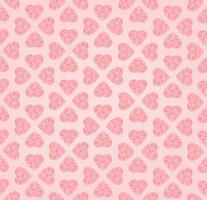 Amor coração doodle padrão sem emenda Dia dos namorados feriado telha ornamento