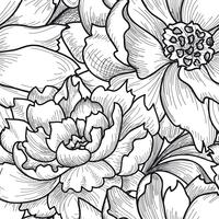 Padrão sem emenda floral. Fundo de flor. Textura gravada