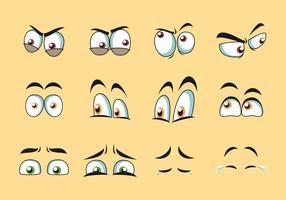 Vetor de olhos dos desenhos animados