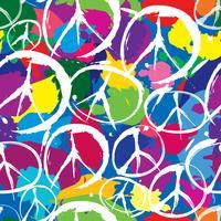 padrão sem emenda com símbolos multicoloridos de paz vetor