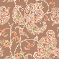 Floral fundo sem emenda. Ornamento Oriental. Padrão floral.