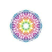 Teste padrão floral redonda ornamental. Ornamento de flor oriental de mandala vetor