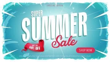 Banner de modelo de venda de verão vetor