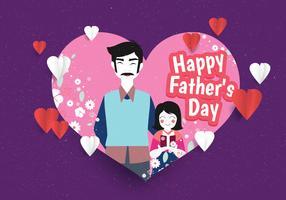 Feliz dia dos pais vector